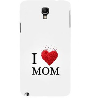 ifasho Love Quotes I love mom Back Case Cover for Samsung Galaxy Note3 Neo