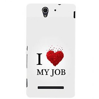 ifasho Love Quotes I love my job Back Case Cover for Sony Xperia C3 Dual