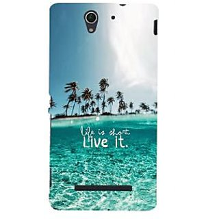 ifasho life is short live it Back Case Cover for Sony Xperia C3 Dual