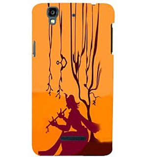 ifasho Lord Krishna with Flute animation Back Case Cover for YU Yurekha