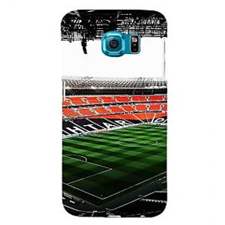 ifasho Football stadium field Back Case Cover for Samsung Galaxy S6 Edge Plus