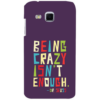 ifasho Crazy Quotes Back Case Cover for Samsung Galaxy J3