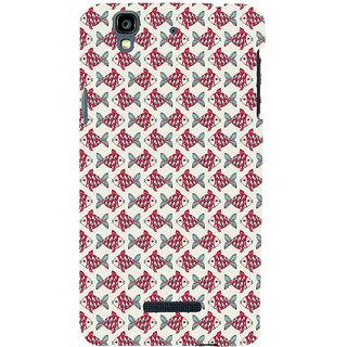 ifasho Modern Art Design Pattern Lot of fish Back Case Cover for YU Yurekha