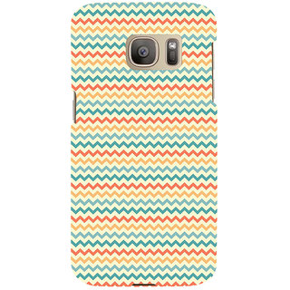 ifasho Animated Pattern of Chevron Arrows  Back Case Cover for Samsung Galaxy S7 Edge
