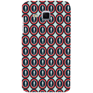ifasho Animation Clourful Circle Pattern with man inside Back Case Cover for Samsung Galaxy J3