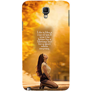 ifasho young Girl with quote Back Case Cover for Samsung Galaxy Note3 Neo