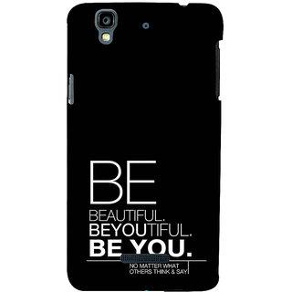 ifasho beautiful qoutes Back Case Cover for YU Yurekha