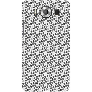 ifasho Animated Pattern colrful design flower with leaves Back Case Cover for Nokia Lumia 950
