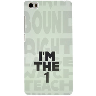 ifasho I am the one good quote on confidence Back Case Cover for Redmi Mi5