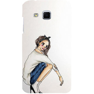 ifasho Sitting Girl Back Case Cover for Samsung Galaxy J3