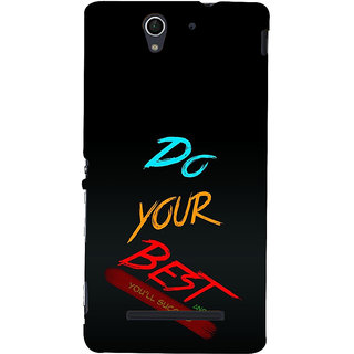 ifasho Do your best Back Case Cover for Sony Xperia C3 Dual
