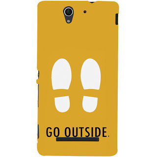ifasho life Quotes go outside Back Case Cover for Sony Xperia C3 Dual