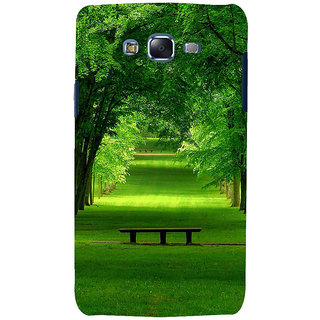 ifasho Green grass road with 3Dees on the two side Back Case Cover for Samsung Galaxy J7