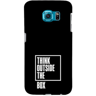 ifasho Think Out of Box Back Case Cover for Samsung Galaxy S6 Edge Plus