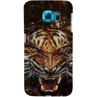ifasho Roaring Tiger  Back Case Cover for Samsung Galaxy S6