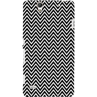 ifasho Animated Pattern of Chevron Arrows Back Case Cover for Sony Xperia C4
