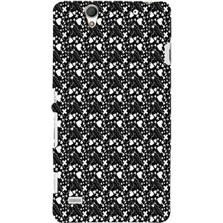 ifasho Modern Art Design Pattern with Lot Of small heart with + sign Back Case Cover for Sony Xperia C4