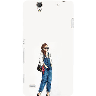 ifasho Girl in jeans Back Case Cover for Sony Xperia C4