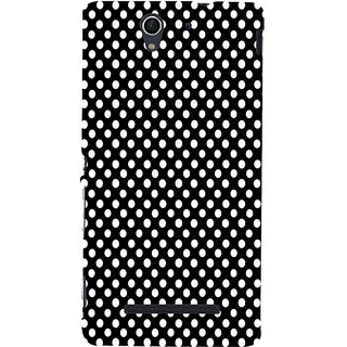 ifasho Modern Theme of white dots in black background Back Case Cover for Sony Xperia C3 Dual