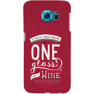 ifasho drink quotes Back Case Cover for Samsung Galaxy S6 Edge Plus