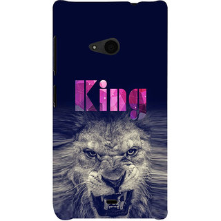 ifasho Angry Lion King Back Case Cover for Nokia Lumia 535
