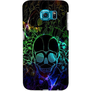 ifasho Modern  Design animated skeleton Back Case Cover for Samsung Galaxy S6