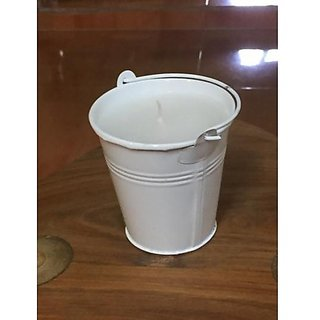 SMALL BUCKET CANDLE -  WHITE