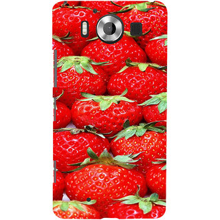 ifasho Modern  Design Pattern S3Dwberry wall paper Back Case Cover for Nokia Lumia 950