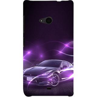 ifasho Purple car Back Case Cover for Nokia Lumia 535