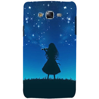ifasho Girl playing violin Back Case Cover for Samsung Galaxy J7