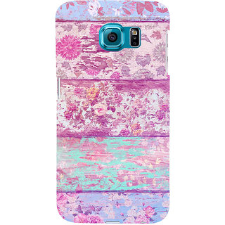 ifasho Modern Art Design painted flower on wood Back Case Cover for Samsung Galaxy S6 Edge Plus