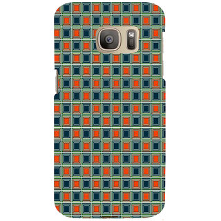 ifasho Colour Full Square Pattern Back Case Cover for Samsung Galaxy S7 Edge