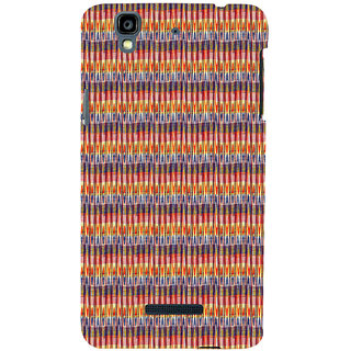 ifasho Animated Pattern of Chevron style pencils arrows Back Case Cover for YU Yurekha