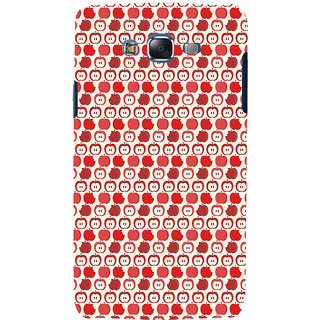 ifasho Animated Pattern design many small apple Back Case Cover for Samsung Galaxy J7