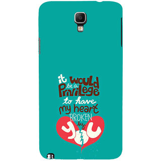 ifasho Heart Break Girl Back Case Cover for Samsung Galaxy Note3 Neo