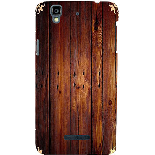 ifasho Animated Royal Pattern with Wooden back ground Back Case Cover for YU Yurekha