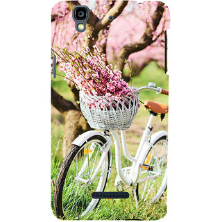 ifasho Cycle in a park with flowers and grass Back Case Cover for YU Yurekha