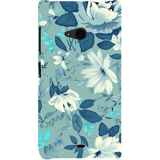 ifasho Modern Art Design animated cloth Pattern of flower Back Case Cover for Nokia Lumia 535