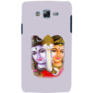 ifasho Siva Parvati and ganesh Back Case Cover for Samsung Galaxy J7 (2016)