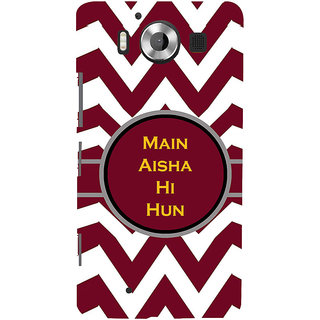ifasho Main Aisha hi hun in quote in arrows Back Case Cover for Nokia Lumia 950