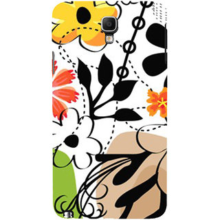 ifasho Animated Pattern colrful design flower with leaves Back Case Cover for Samsung Galaxy Note3 Neo