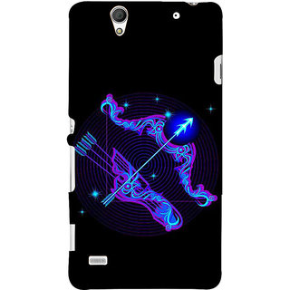 ifasho zodiac sign Sagitarius Back Case Cover for Sony Xperia C4