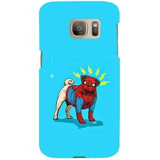 ifasho Dog wearing spiderman dress animated Back Case Cover for Samsung Galaxy S7 Edge