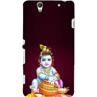 ifasho Lord Krishna stealing curd Back Case Cover for Sony Xperia C4