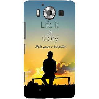 ifasho Good messge on Books life is a story Back Case Cover for Nokia Lumia 950