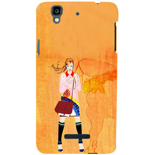 ifasho Girl with Horse Back Case Cover for YU Yurekha