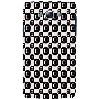 ifasho Modern Theme of black and white Squre and dots pattern Back Case Cover for Samsung Galaxy J5