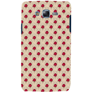 ifasho Animated Pattern small red rose flower Back Case Cover for Samsung Galaxy J7