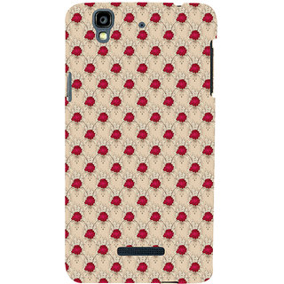 ifasho Animated Pattern small red rose flower Back Case Cover for YU Yurekha