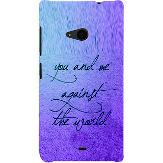 ifasho Love Quotes for love Back Case Cover for Nokia Lumia 535
